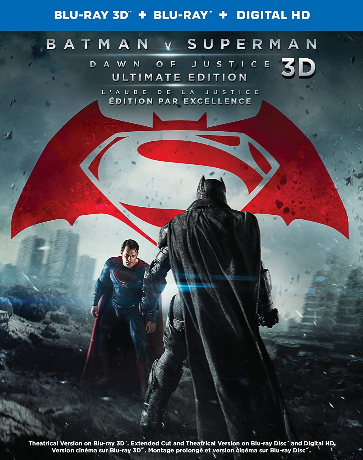 Batman v Superman: Dawn of Justice [3D Blu-ray + Blu-ray + Digital Copy] (Bilingual) Ultimate Edition (Extended Cut) Chris Terrio David S. Goyer Charles Roven Wesley Coller