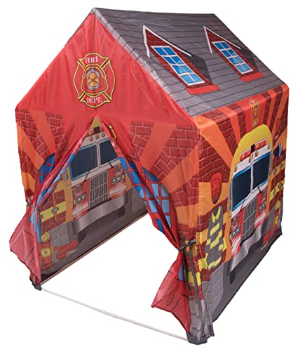 Fire Station Indoor/Outdoor Play Tent by Clever Creations | Fire House Design perfect for  sc 1 st  Amazon.com & Amazon.com: Fire Station Indoor/Outdoor Play Tent by Clever ...