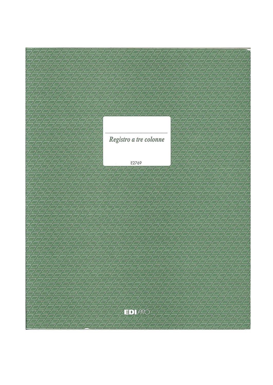 Edipro E2769 Registro Contabile a Tre Colonne, 31 x 24,5 cm