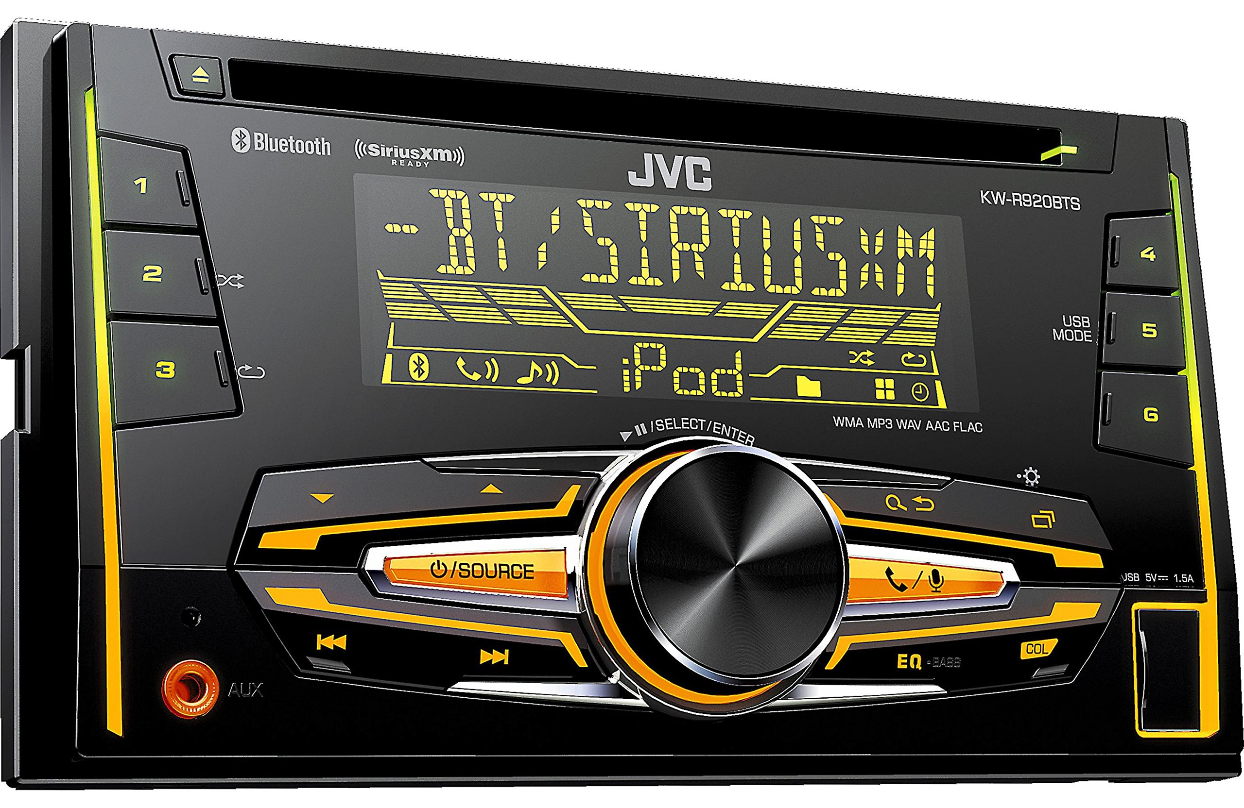 JVC KW-R920BTS Double DIN Bluetooth In-Dash Car Stereo, SiriusXM Tuner Included by JVC (Image #3)