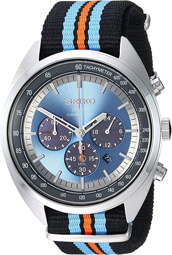 Seiko Men's RECRAFT Series Stainless Steel Japanese-Quartz Watch with Nylon Strap