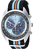 Seiko Men's RECRAFT Series Stainless Steel Japanese-Quartz Watch with Nylon Strap, Black, 21.65 (Model: SSC667)