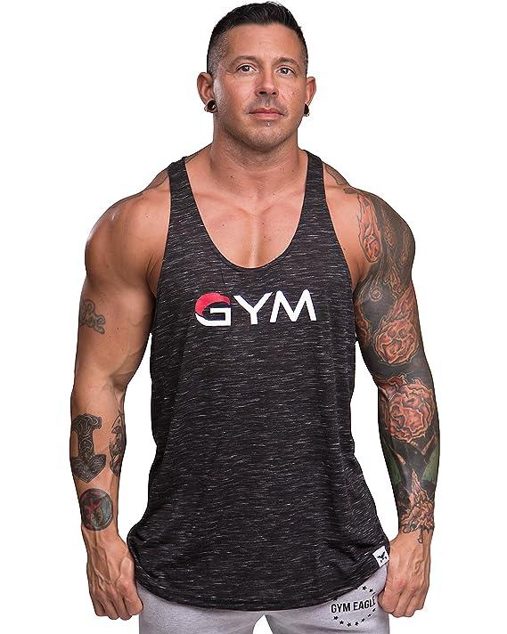 e4c2f7c0fdcb6f Amazon.com  Men s Gym Stringer Tank Top Bodybuilding Athletic Workout  Muscle Fitness Vest  Clothing