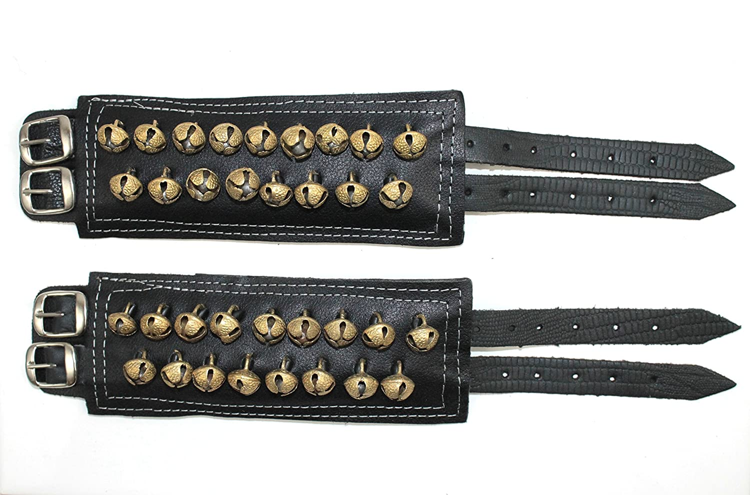 Ankle Bell 2 Line Leather Ghungroo salangai for all Indian classical dance