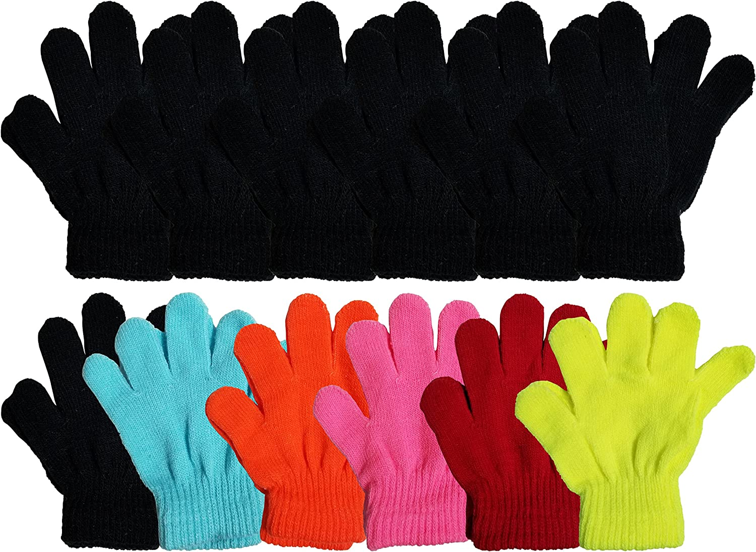 New Sport Children Winter Magic Flannel Knit Thicken Full Finger Gripper Gloves