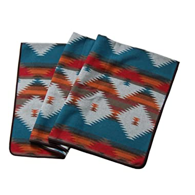 RUTH&BOAZ Outdoor Wool Blend Blanket Ethnic Inka Pattern(M)