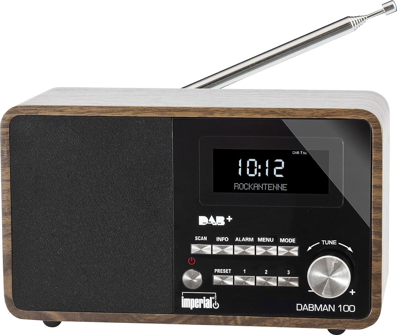 Imperial 22 220 00 Dabman 100 Digitalradio Holzgehäuse Lcd Display Dab Ukw Rds 3 5mm Klinke Braun Heimkino Tv Video