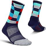Feetures Unisex Elite Light Cushion Mini Crew Sock Stripe