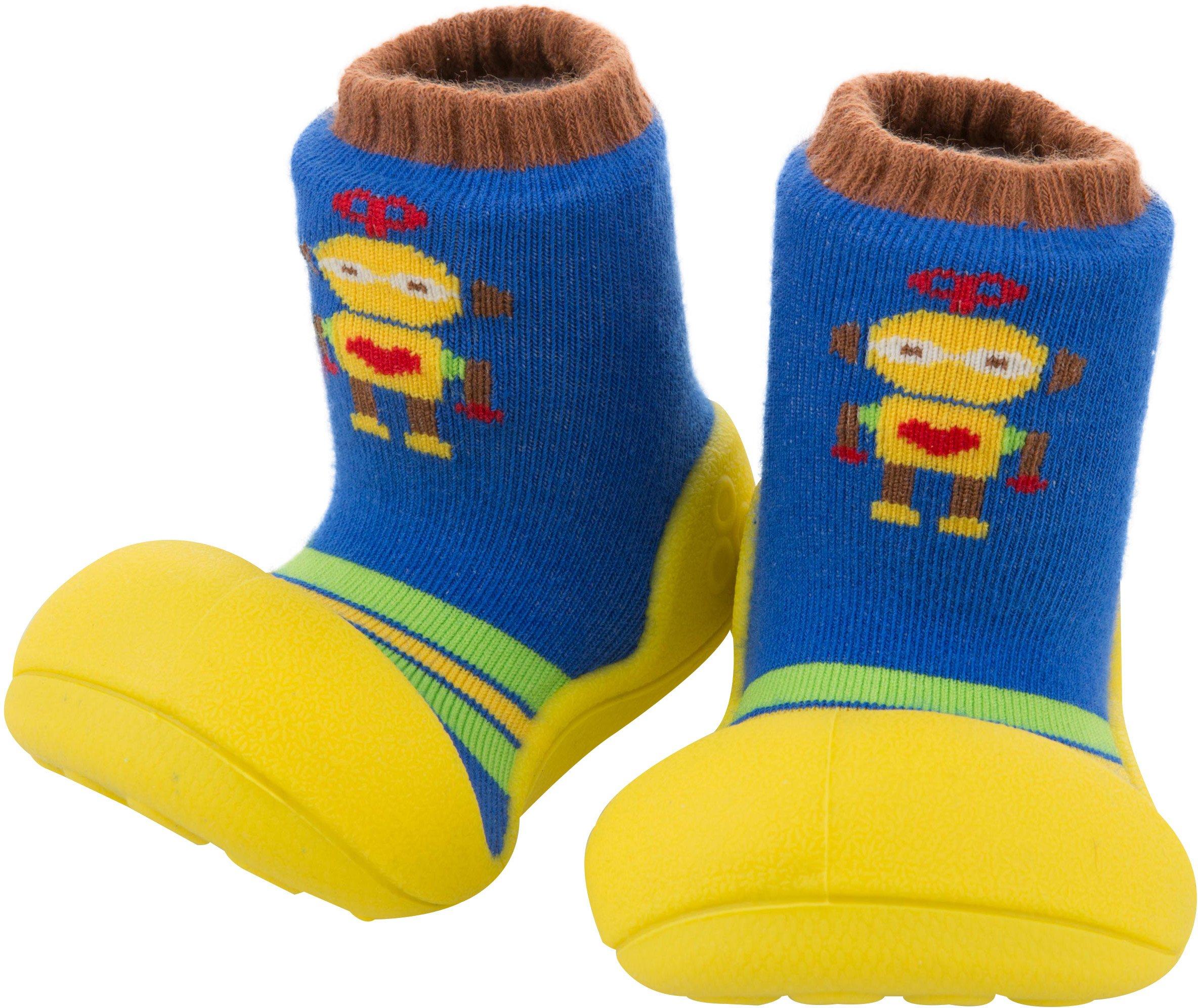 Attipas Healthy First Walker Shoes (Medium, Robot Yellow)