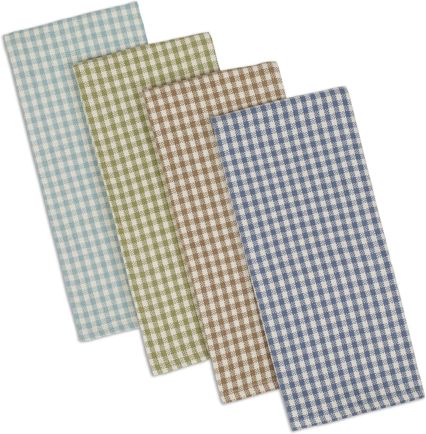 DII Cotton Heavyweight Plaid Dish Towels Kitchen Gift, 18 x 28