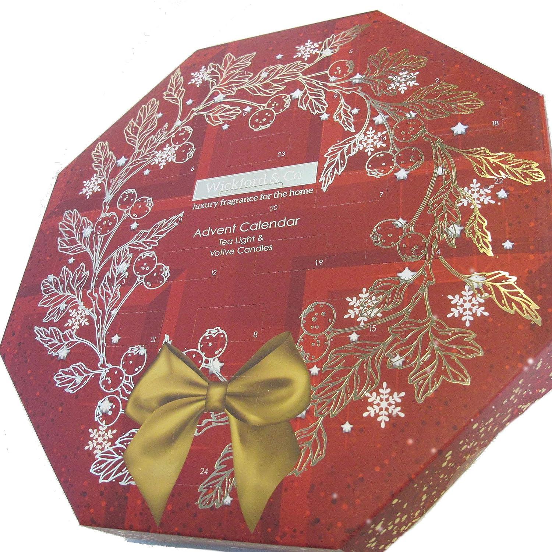 Pain d/épices Pomme et Cannelle Arbre magique de No/ël Flocon de neige vanille Wickford Bougies de l/'Avent Bo/îte cadeau