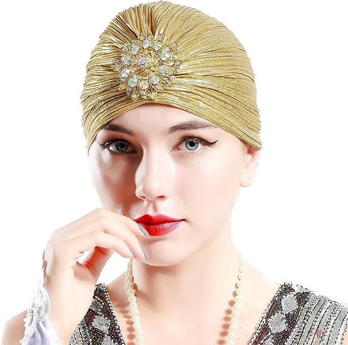 BABEYOND Women's Ruffle Turban Hat