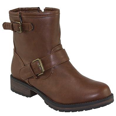 Women's Rocker-34 Round-toe Low Heel Ankle Boots