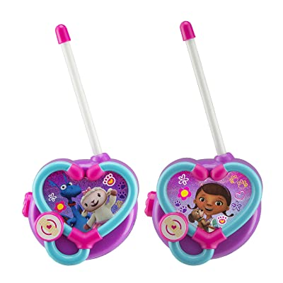 Doc McStuffins Walkie Talkies for Kids Static Free Extended Range Kid Friendly Easy to Use 2 Way Walkie Talkies: Toys & Games