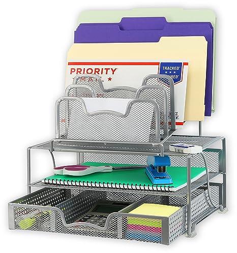Amazon.com: Organizador de escritorio con cajón corredizo ...
