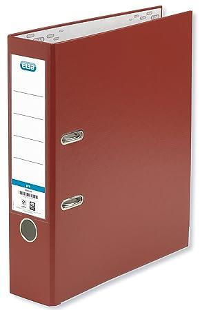 Elba Rado Top - Archivador palanca forrado en polipropileno, A4, color rojo: Amazon.es: Oficina y papelería