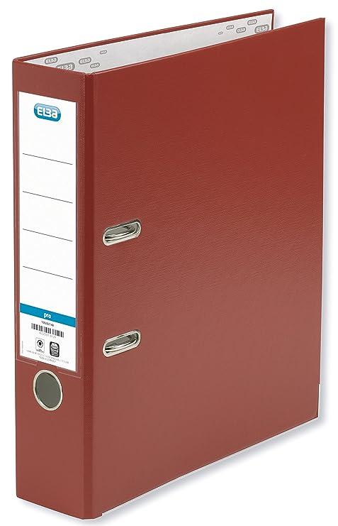 Elba Rado Top - Archivador palanca forrado en polipropileno, A4, color rojo