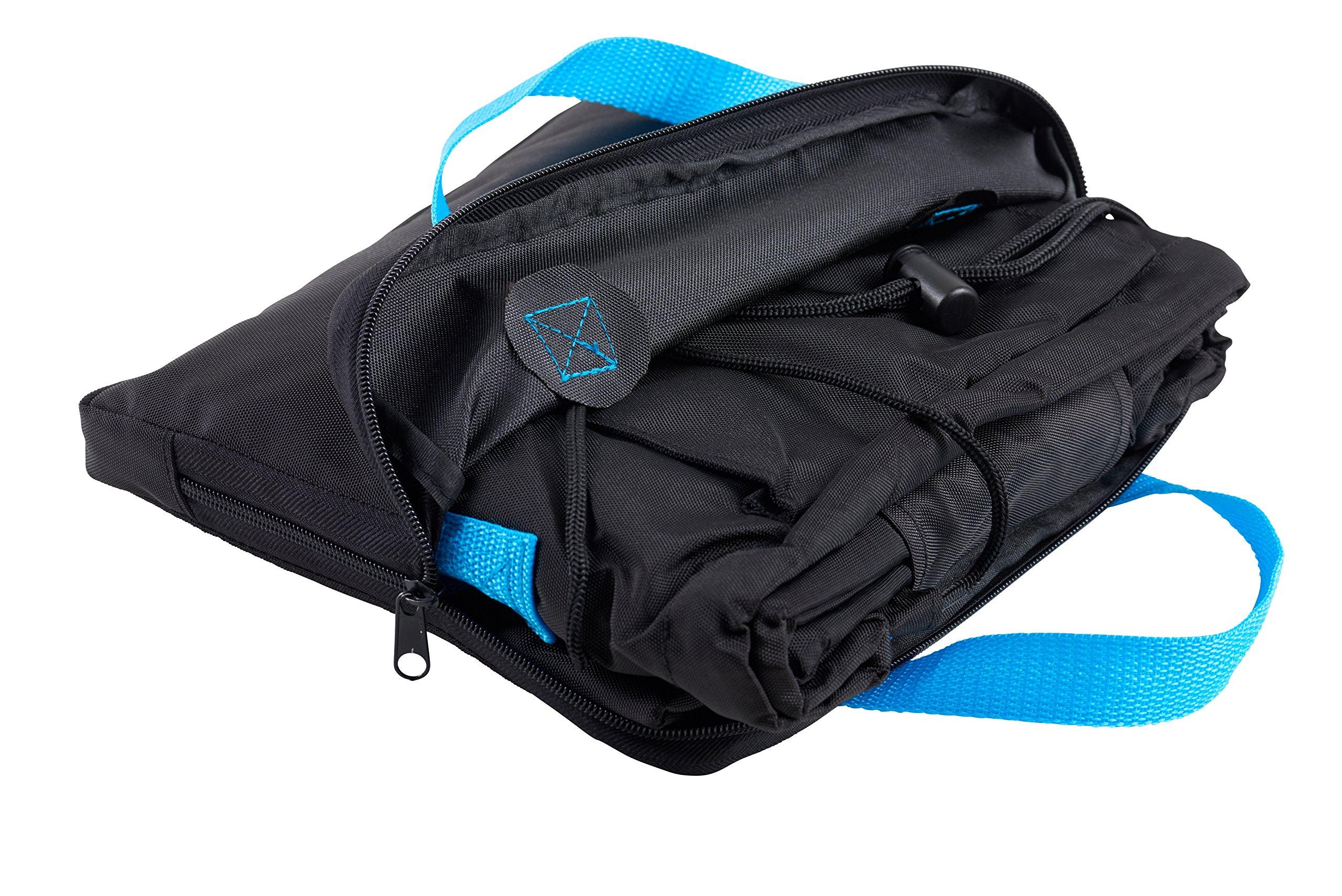 Zohzo Car Seat Travel Bag - Drawstring Bag for Air Travel (Black) by Zohzo