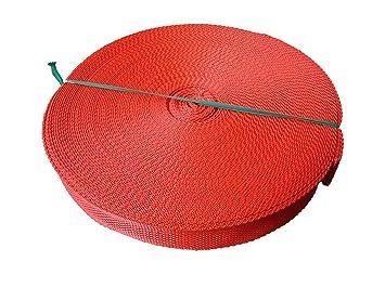 Cincha para cinta de flejado 30 mm polipropileno, Rojo, 5 m: Amazon.es: Hogar