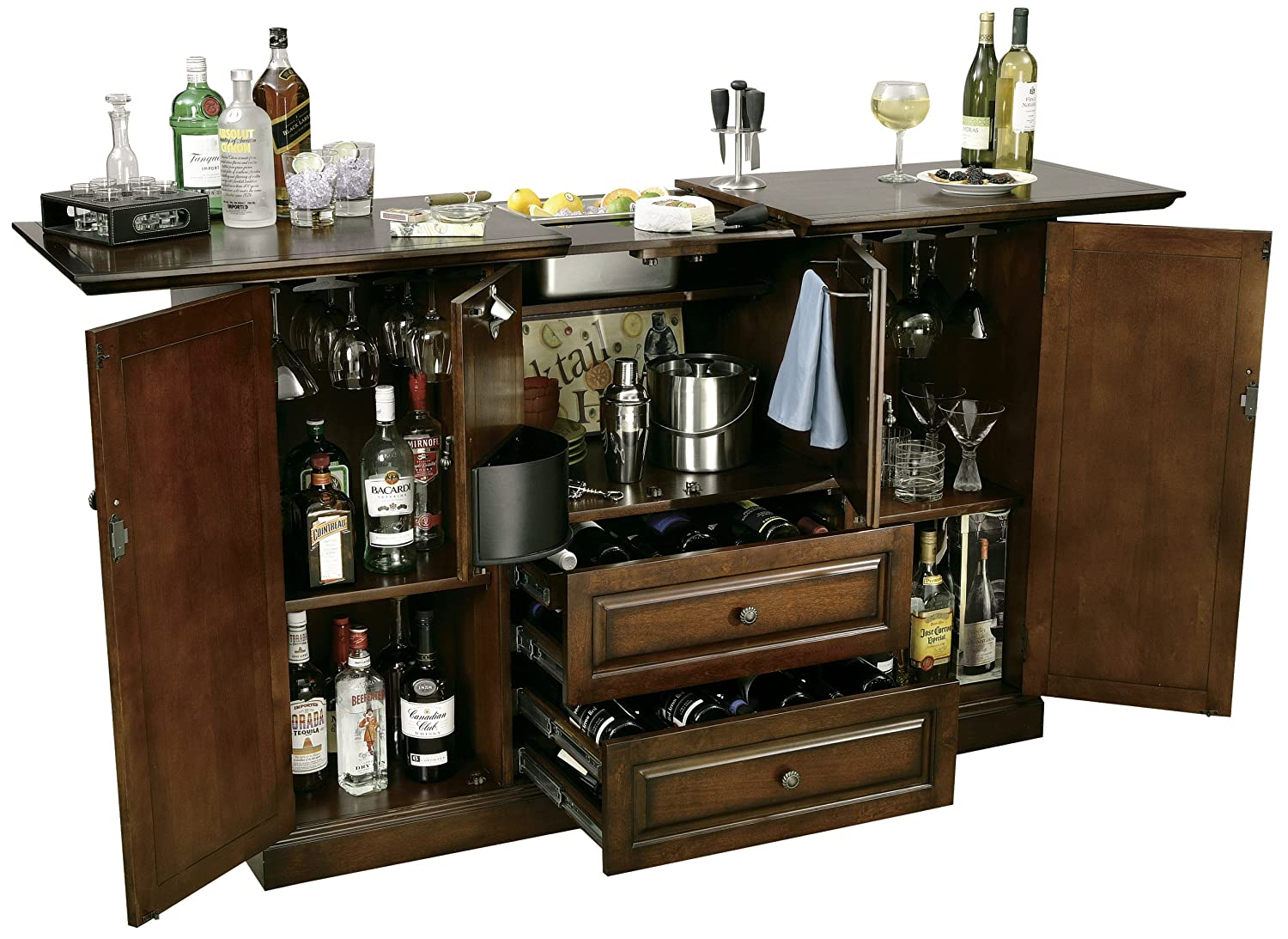 Amazon.com: Howard Miller 695 080 Bar Devino Wine U0026 Bar Console By: Kitchen  U0026 Dining
