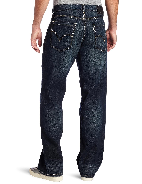 Amazon.com: Levi's Men's Silver Tab Baggy Jean, Dark Lake, 42x36 ...