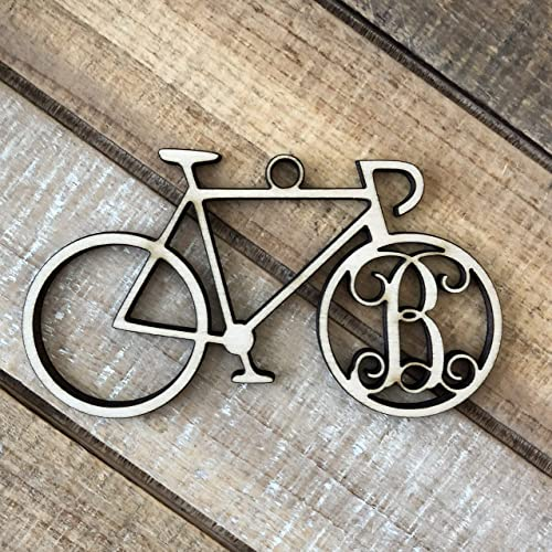 Monogram Bicycle Christmas Ornament - Personalized Cycling Ornament - Bicycle  Ornament -Bicycle Initial Christmas Ornament - Amazon.com: Monogram Bicycle Christmas Ornament - Personalized