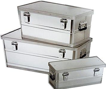 3 Teiliges Aluboxen Set 25l 45l Und 90l Box Aufbewahrungsboxen