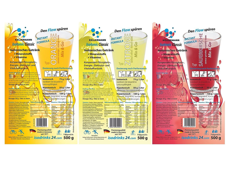 10er Set KELLERMANN Outdoor Sports Drink 3 Sorten Getränkepulver ...