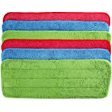 6 Pieces Microfiber Cleaning Pads Reveal Mop 16 to 18 inch Fit for Most Spray Mops and Reveal Mops Washable (16.5 x 5.5 inch)
