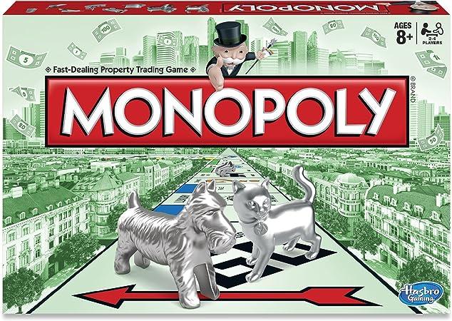Hasbro Monopoly Niños y adultos Simulación económica - Juego de tablero (Simulación económica, Niños y adultos, Niño/niña, 8 año(s), Interior, 8 Tokens, 28 Title Deed Cards, 16 Chance Cards, 16 Community Chest