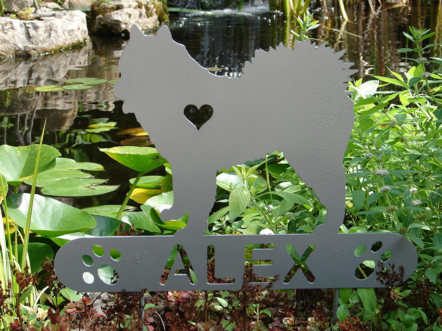 American Eskimo Dog Personalize Pet memorial Garden Stake Hunting Dog