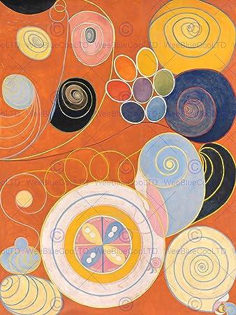 amazon modern hilma af klint abstract painting art print poster