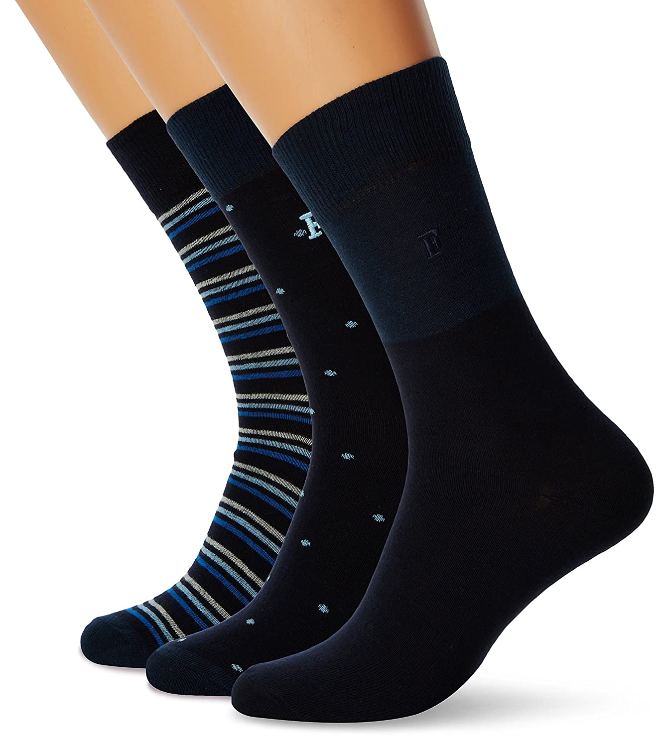 French Connection Calcetines para Hombre Pack de 3