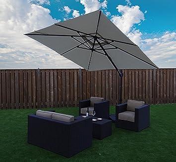 Good Cantilever Parasol Garden Umbrella Sun Shading | Sand | 300 X 300 Cm / 3 X