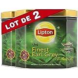 Lipton Thé Noir Finest Earl Grey 200g Vrac - Lot de 2