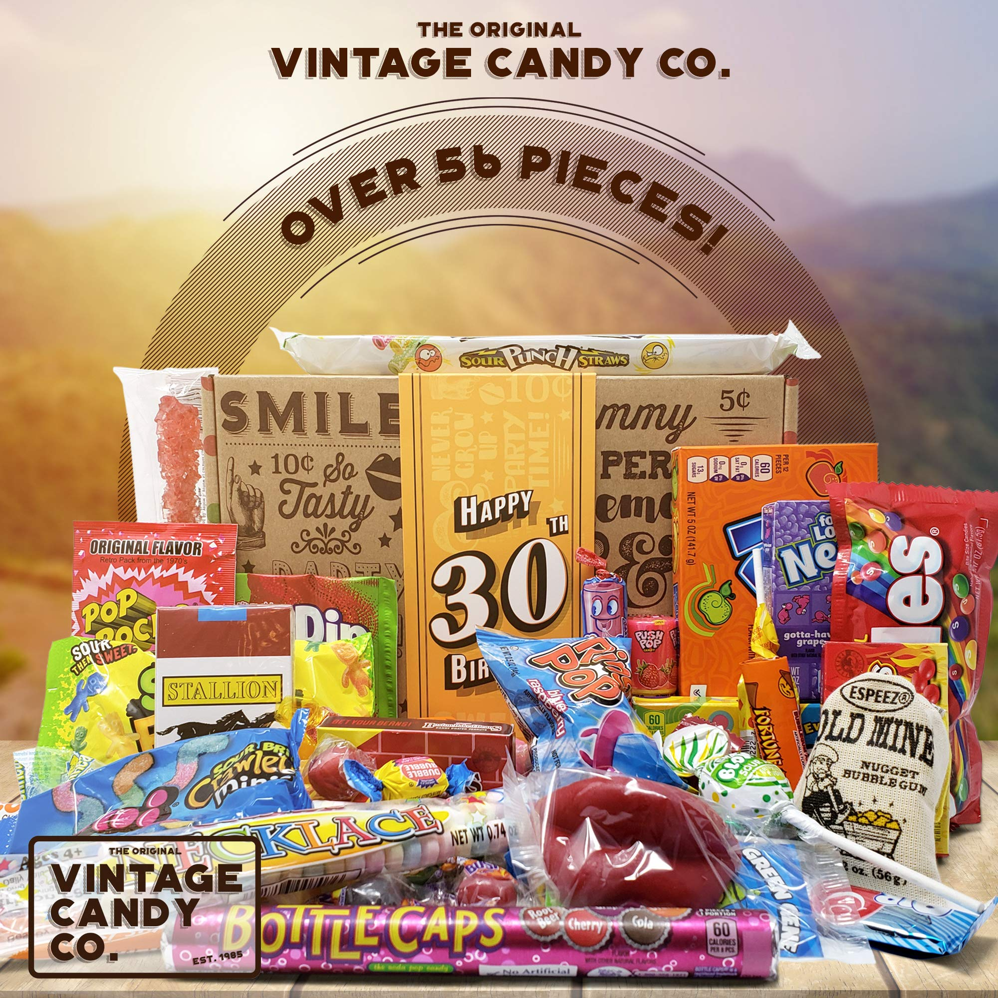 VINTAGE CANDY CO. 30TH BIRTHDAY RETRO CANDY GIFT BOX - 1989 Decade Childhood Nostalgic Candies - Fun Funny Gag Gift Basket - Milestone THIRTIETH Birthday - PERFECT For Man Or Woman Turning THIRTY by Vintage Candy Co. (Image #2)