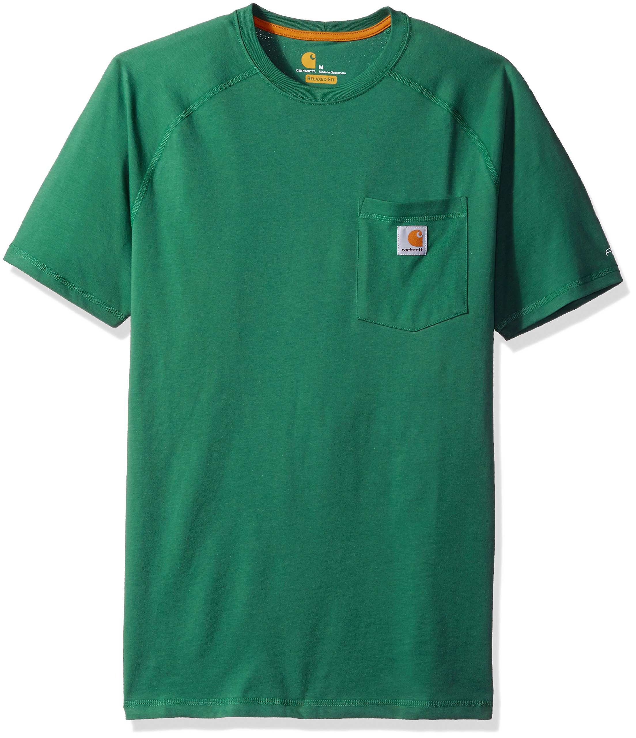 Carhartt Men's Force Cotton Delmont Short Sleeve T-Shirt, Botanical Green, X-Large