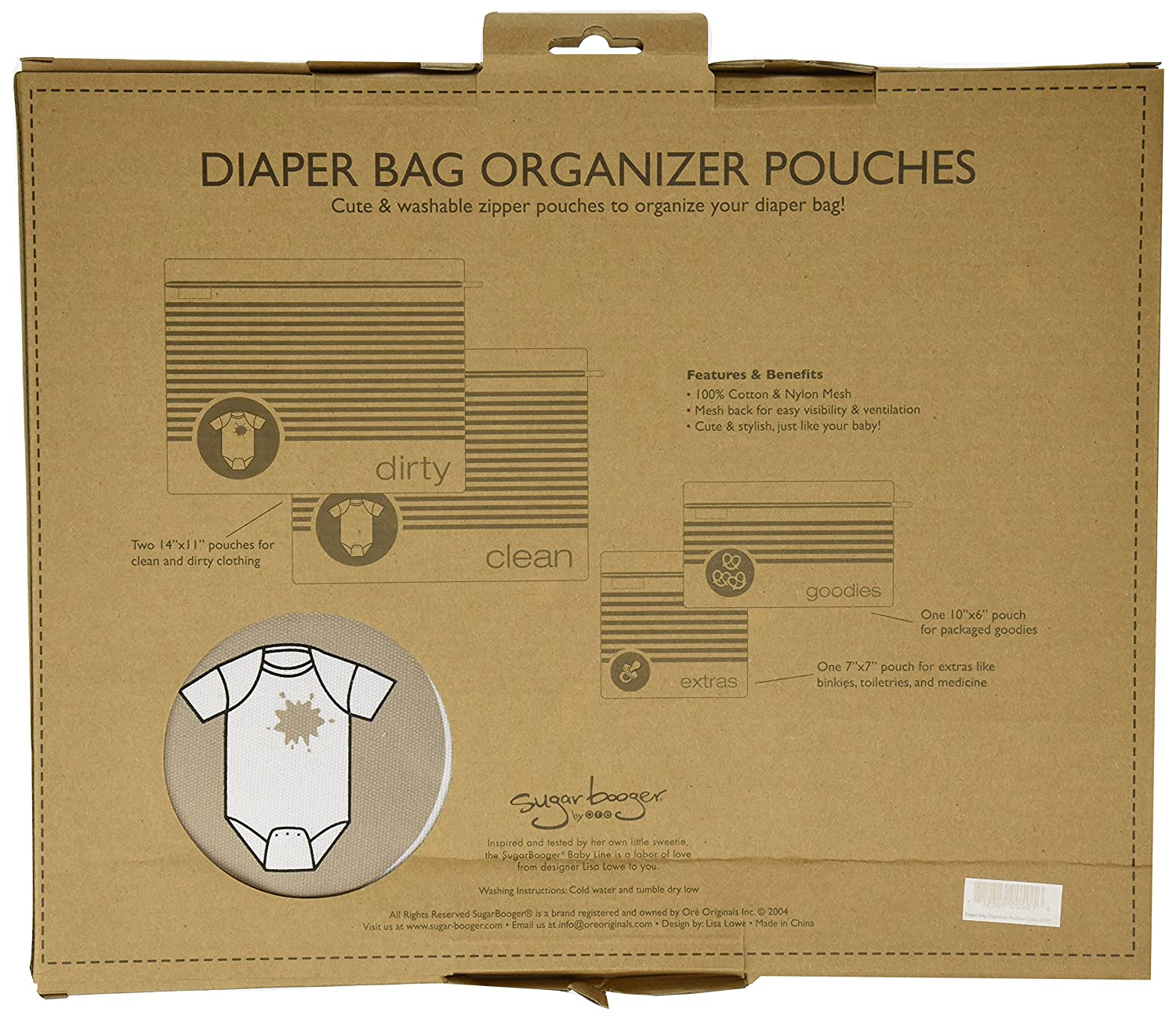 Amazon.com : Sugarbooger Diaper Bag Organizer Pouches : Diaper ...