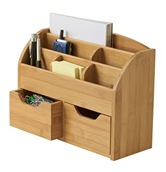space saving desk ideas with storage bedroom international bamboo organizer