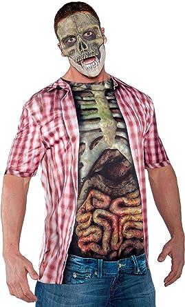 Underwraps Costumes Mens Skeleton Costume Photo Real Shirt