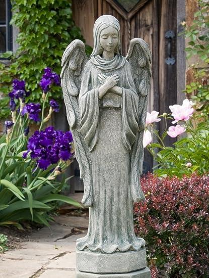 Superbe Campania International R 060 AS Autumn Angel Statue, Alpine Stone Finish
