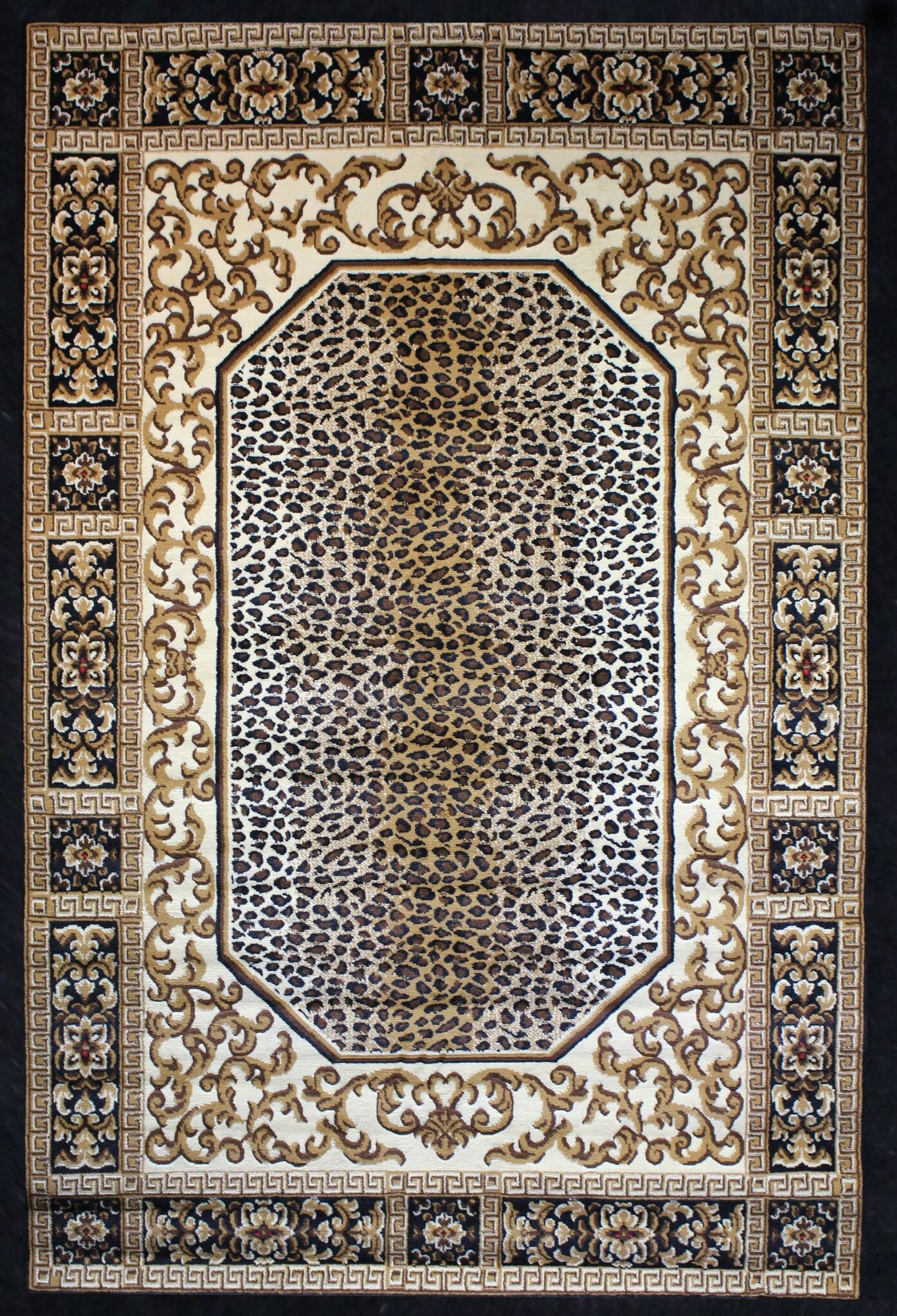 Leopard Rug Print Modern Area Rug New Carpet Size Options Available (1'.10'' X 2'.11'' Scatter Rug, Nouv-14 Leopard)