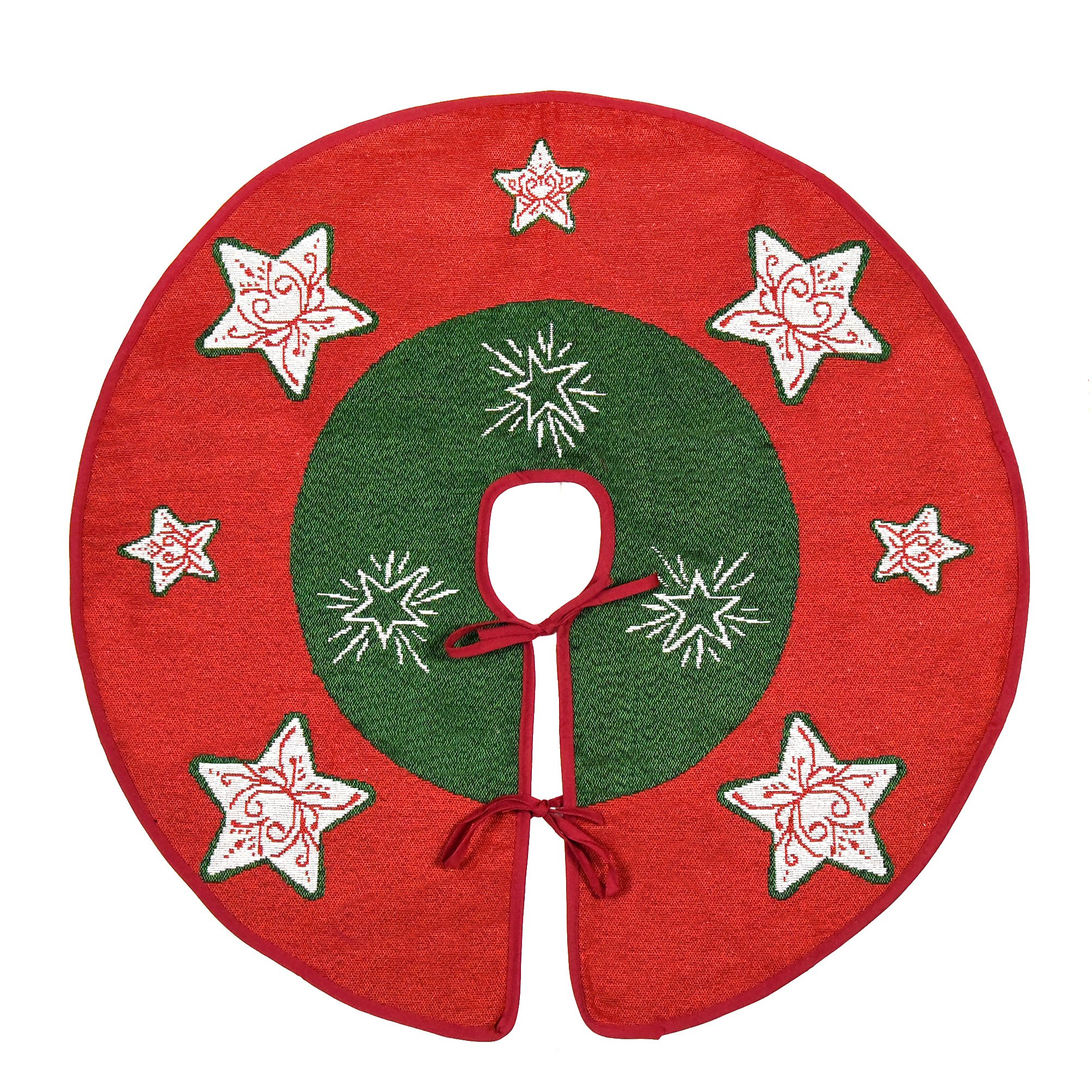 """Primode Tree Skirt, Woven Jacquard 50"""" Xmas Holiday Tree Ornaments Decoration by Primode"""