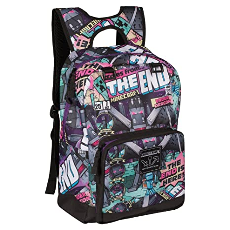9a82285619 Amazon.com  JINX Minecraft Tales from The End Kids Backpack (Multi-Color