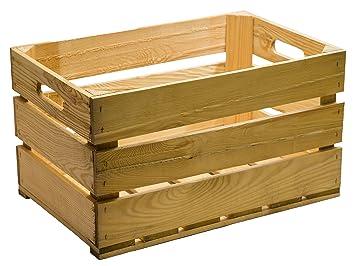 caja de fruta madera 54 x 35 x 30 cm color marroacute