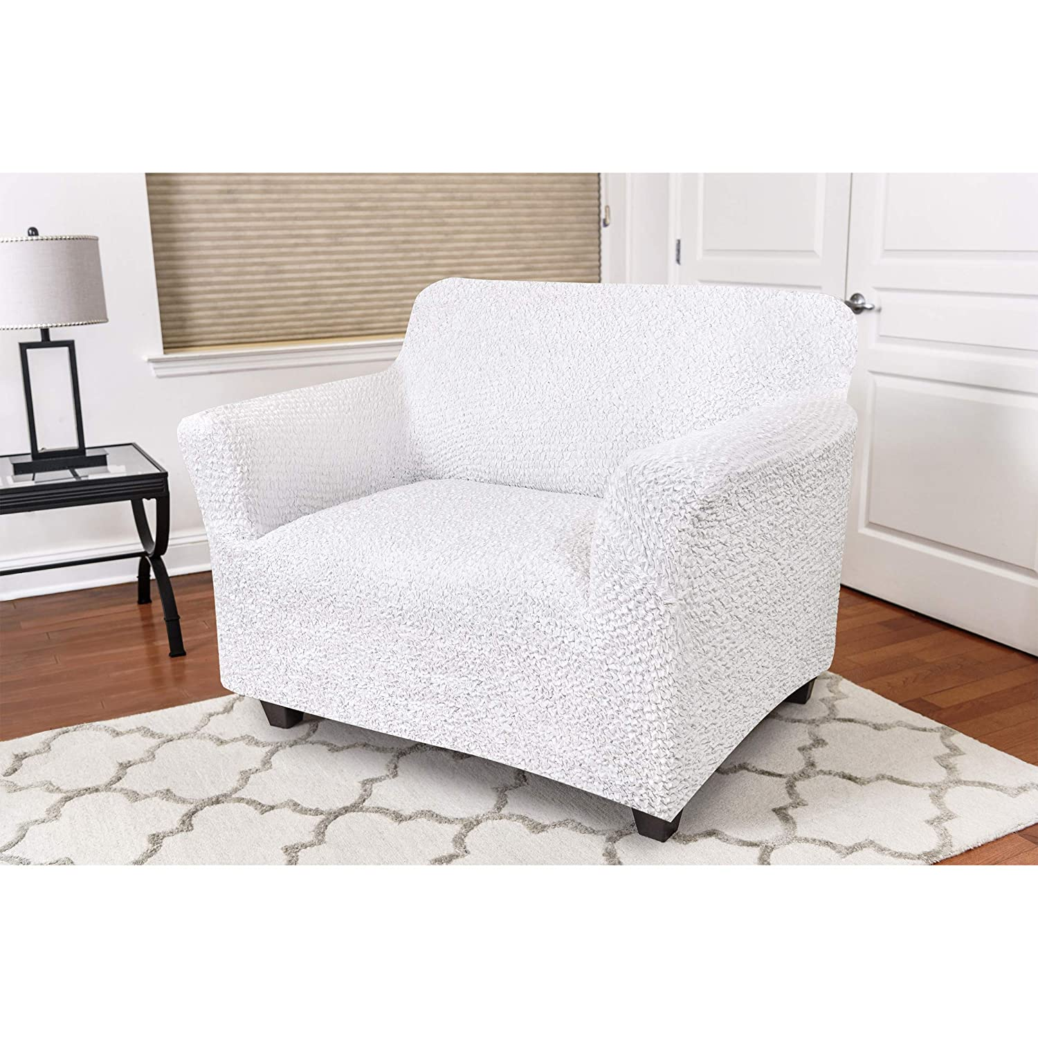 PAULATO BY GA.I.CO. Chair Cover - Armchair Cover - Armchair Slipcover - Soft Polyester Fabric Slipcover - 1-Piece Form Fit Stretch Stylish Furniture ...