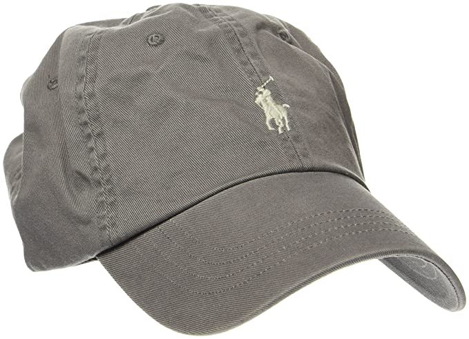 499b63f828e Ralph Lauren Polo Men s Classic Sport Cap W Small PP Baseball (Grey 015)