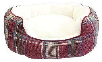 Festive Collection de Navidad Oval Cama para Perros, pequeño/Mediano: Amazon.es: Productos para mascotas