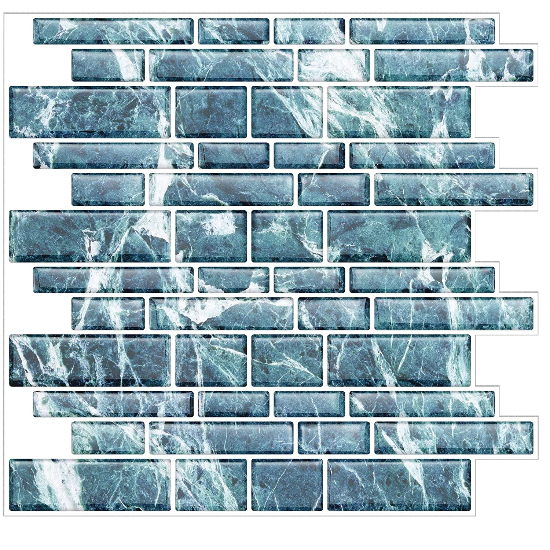 Amazon.com: Peel and Stick - Stick On Tile for Backsplash Kitchen ...