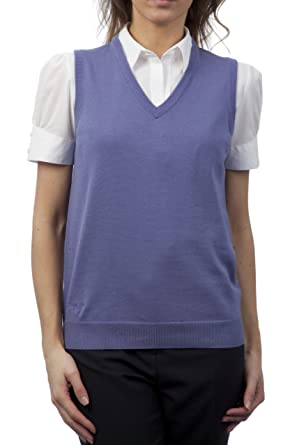 22dadc28203 Glenmuir Ladies' 100% Supersoft Cotton V Neck Slipover-Iris-X-Small ...